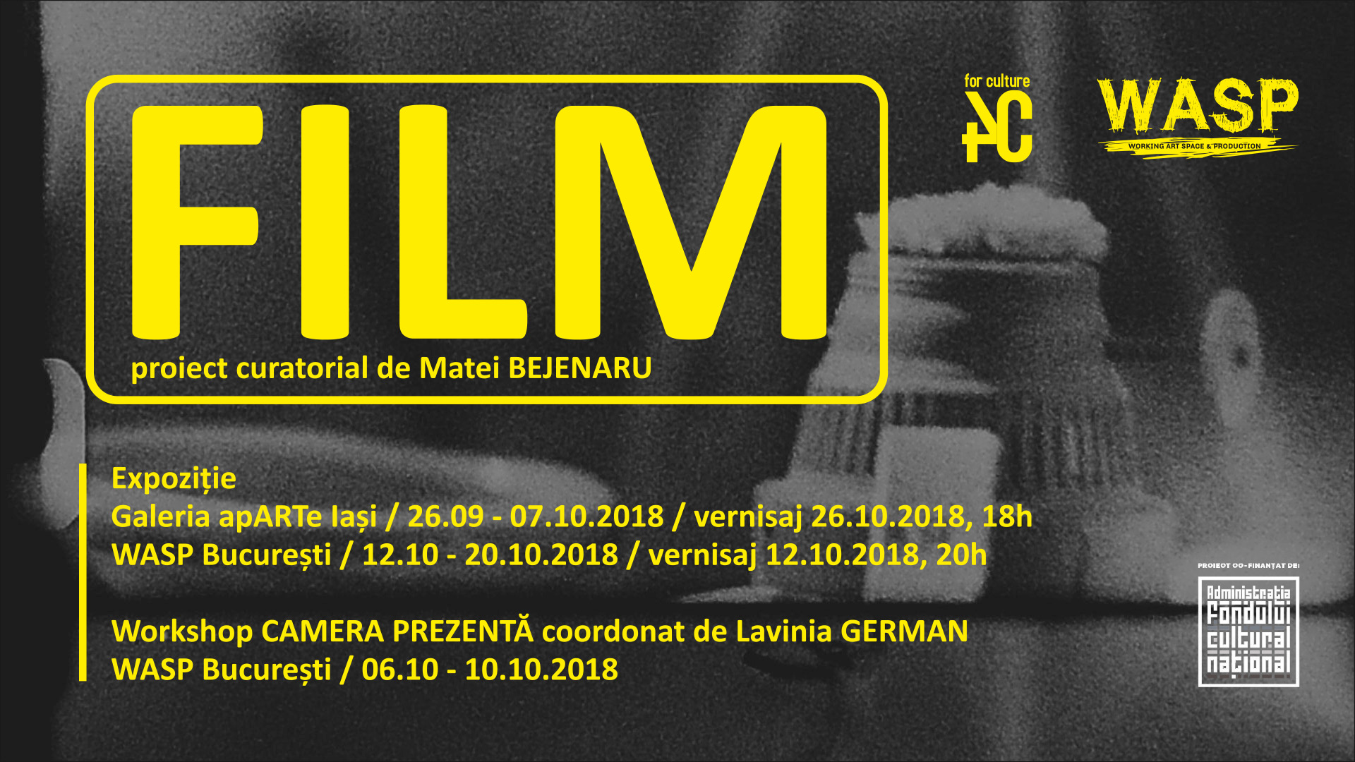 """Deschiderea expoziției """"FILM – proiect curatorial"""", Galeria apARTe Iași"""